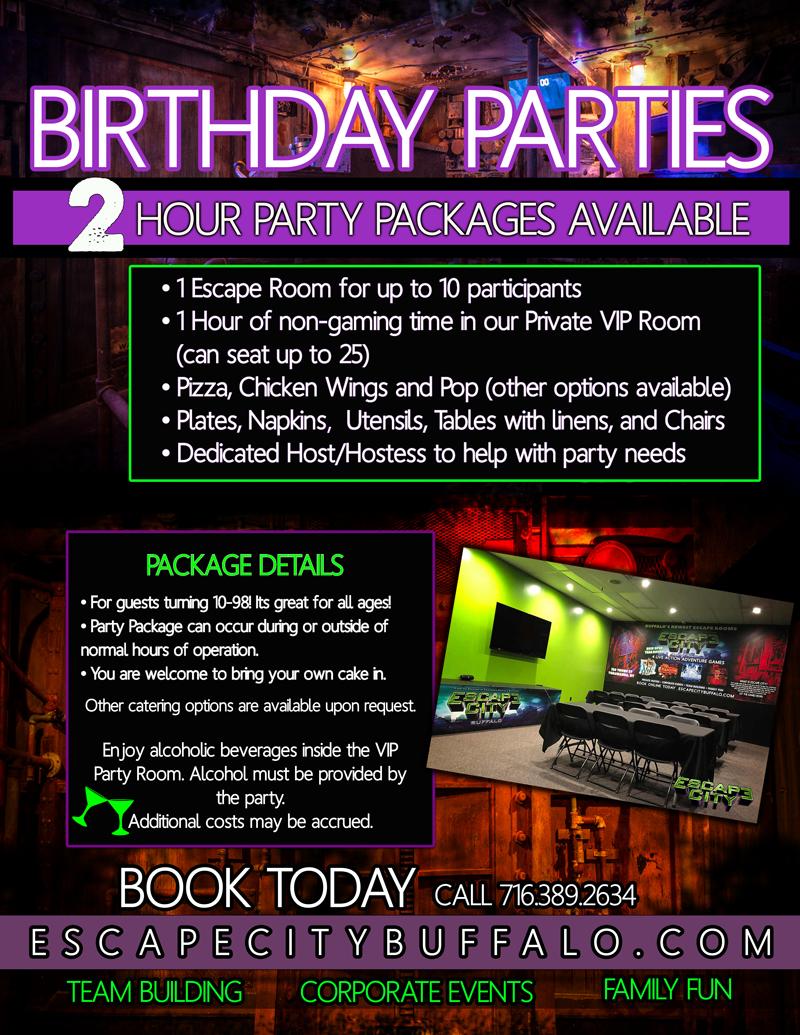 Escape City Buffalo Escape Room Birthday Parties